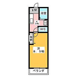 ハウス サンポケット[1階]の間取り