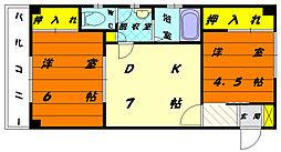 シンワコーポ[2階]の間取り
