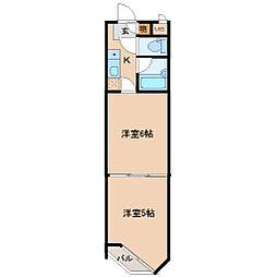 バリュー大和町[3階]の間取り