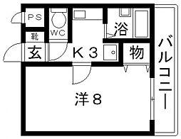 トレイズII[102号室号室]の間取り