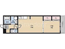 リリーブ1号館[2階]の間取り