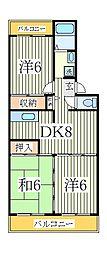 エスポアール如春堂[3階]の間取り