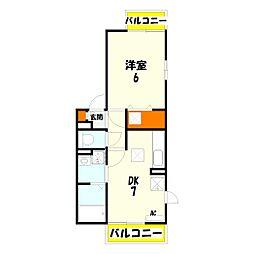 FLATTENJIN[1階]の間取り