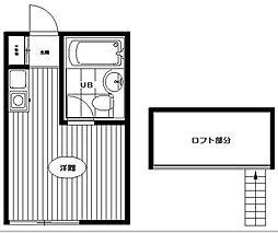ペアパレス高円寺 B棟[203号室]の間取り
