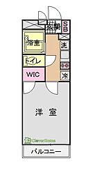 東京都八王子市下柚木の賃貸マンションの間取り