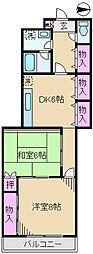 東京都足立区小台2丁目の賃貸マンションの間取り