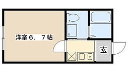 Moca House[102号室]の間取り