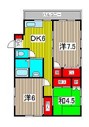 メゾート高砂[3階]の間取り