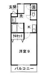 鳥取県米子市錦町3丁目の賃貸マンションの間取り