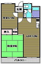 コーポフロンティア21[2階]の間取り