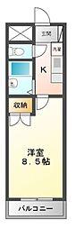 ピディエスTAMAGAKI[2階]の間取り