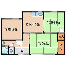 [一戸建] 奈良県奈良市中山町 の賃貸【/】の間取り