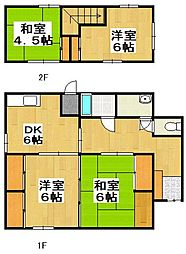 [一戸建] 福岡県福岡市城南区七隈3丁目 の賃貸【/】の間取り