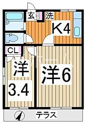 小山台コーポ[1階]の間取り