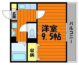 岡山県倉敷市堀南丁目なしの賃貸マンションの間取り