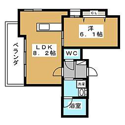 ALTA京都堀川ウインドア[3階]の間取り