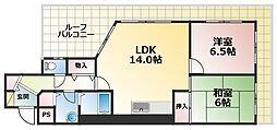 サンコート萩乃台[5階]の間取り