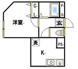 フレンドシップ坂戸[2階]の間取り