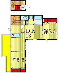 ルーエプラッツ[3階]の間取り