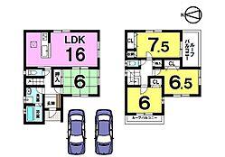 全居室6帖以上。収納スペースもたっぷり確保しました。駐車2台可能角地の物件です。