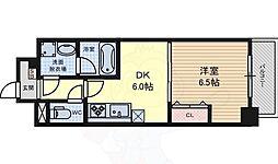名古屋市営桜通線 高岳駅 徒歩6分の賃貸マンション 6階1DKの間取り