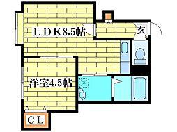 デュオール北野I[1階]の間取り