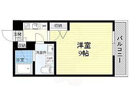 GENOVIA墨田八広Skygarden 3階1Kの間取り