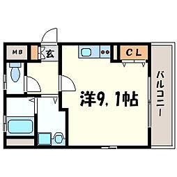 兵庫県尼崎市潮江3丁目の賃貸マンションの間取り