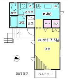 東京都杉並区善福寺1丁目の賃貸アパートの間取り