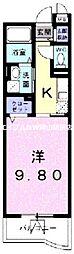 岡山県岡山市南区新福2丁目の賃貸マンションの間取り