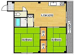 アビルマンション[202号室号室]の間取り