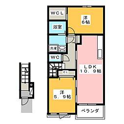グラースワタナベ[2階]の間取り