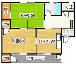 萩アパート[305号室]の間取り