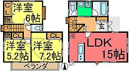[一戸建] 東京都江戸川区大杉2丁目 の賃貸【/】の間取り