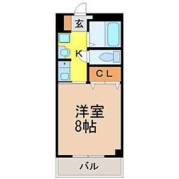 愛知県名古屋市昭和区曙町2丁目の賃貸マンションの間取り