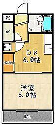 シギハイツ竹田[310号室]の間取り
