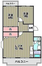 エステートIII[2階]の間取り