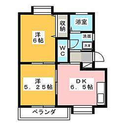 シティハイツ2[2階]の間取り