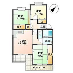 シティハイツ竹の台[3階]の間取り