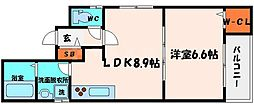 クリエオーレ日吉 3階1LDKの間取り