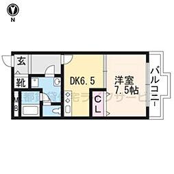 グランハイツ西ノ京[110号室]の間取り