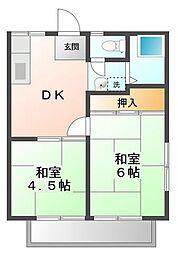 永岡ハイツ[2階]の間取り