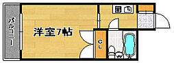 福岡県福岡市南区塩原4丁目の賃貸マンションの間取り