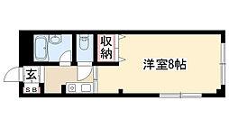 愛知県名古屋市昭和区西畑町の賃貸アパートの間取り