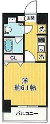 SHOKEN Residence 横浜桜木町 5階1Kの間取り