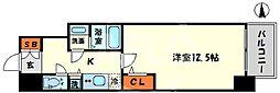 エスリード大阪心斎橋 11階1Kの間取り