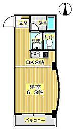 ラヴィータ箕面[4階]の間取り