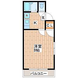 ドリームコート平野[3階]の間取り