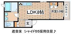 兵庫県神戸市長田区御船通1の賃貸マンションの間取り