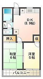 セジュール新小平[1階]の間取り